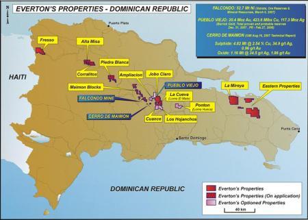 Mapa mineria - Everton properties